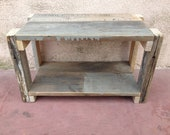 Hand crafted rustic reclaimed wood foot stool / step stool