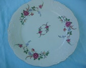 "W Wawel of Poland Rose Garden 10 3/8"" Dinner Plate"