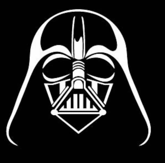 Items similar to Pick Color Darth Vader face logo Decal ...
