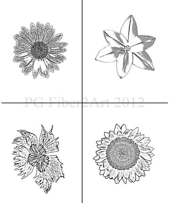 Thermofax Screen Flower Collection