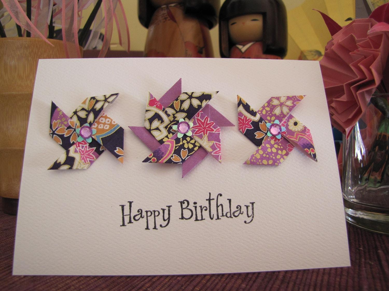 как сделать открытку оригами на день рождения подруге