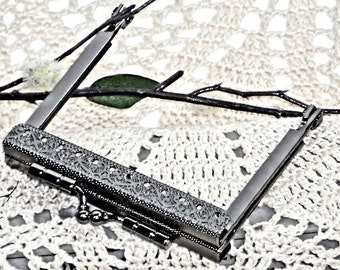 "7.5cm Sew On  Purse Frame, 2.75"" Coin Purse Frame, Purse Making Hardware Supplies, Straight Purse Frame @ MeiMei Supplies in USA"