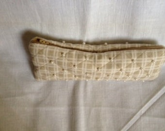 Quilted Barrel Clutch