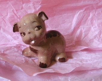 Happy Puppy Dog Figurine. Vintage 1950's