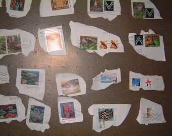 Lot of 30 Used United States Postage Stamps
