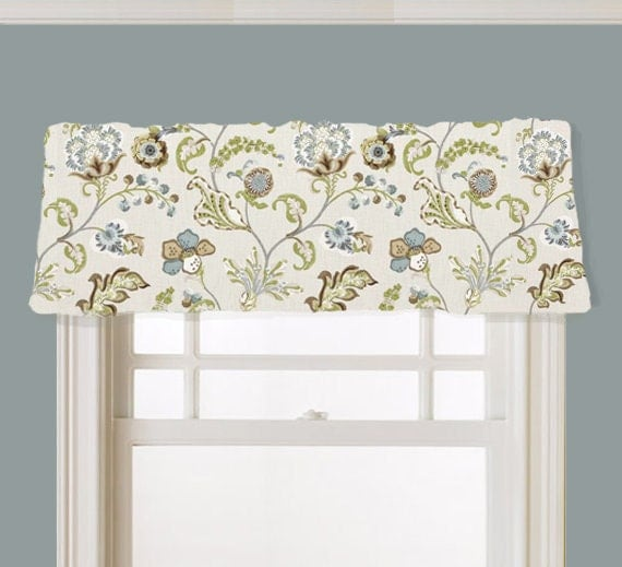 Items Similar To Valance Floral Kaufmann Chic Steel