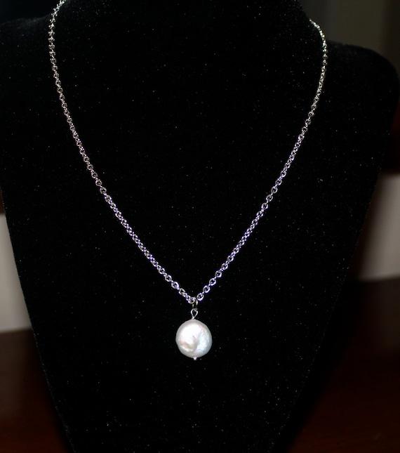 Handmade Coin Pearl Pendant