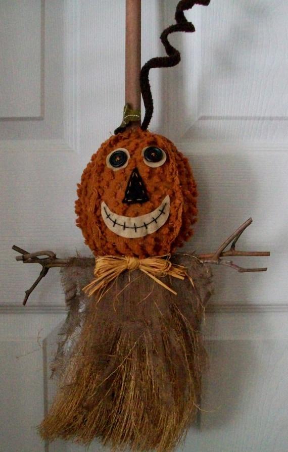 SALE...SALE...SALE...5.00 Off...Pumpkin/Scarecrow Broom