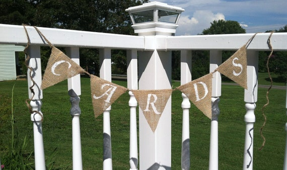 CARDS Banner, photo prop, bunting, wedding decor