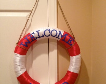 """Life Preserver, """"Welcome Aboard"""""""