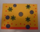 yellow over orange cutout leaves card
