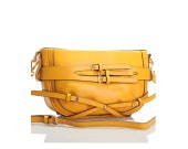 Yellow Leather Handbag / Handmade Purse / Shoulder Bag -  Bright Yellow Etherealm Side Bag w/ Detachable Strap & Mystery Gifts