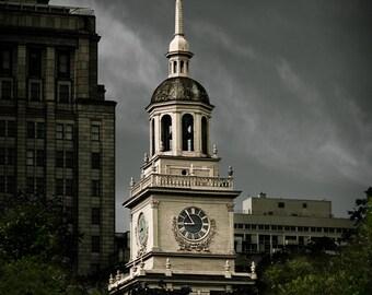 Cityscape Photography - Independence Hall Philadelphia -  8x12