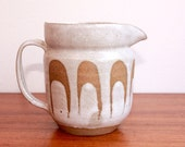 Vintage Mid Century Style Ceramic Pitcher With Wave Detail