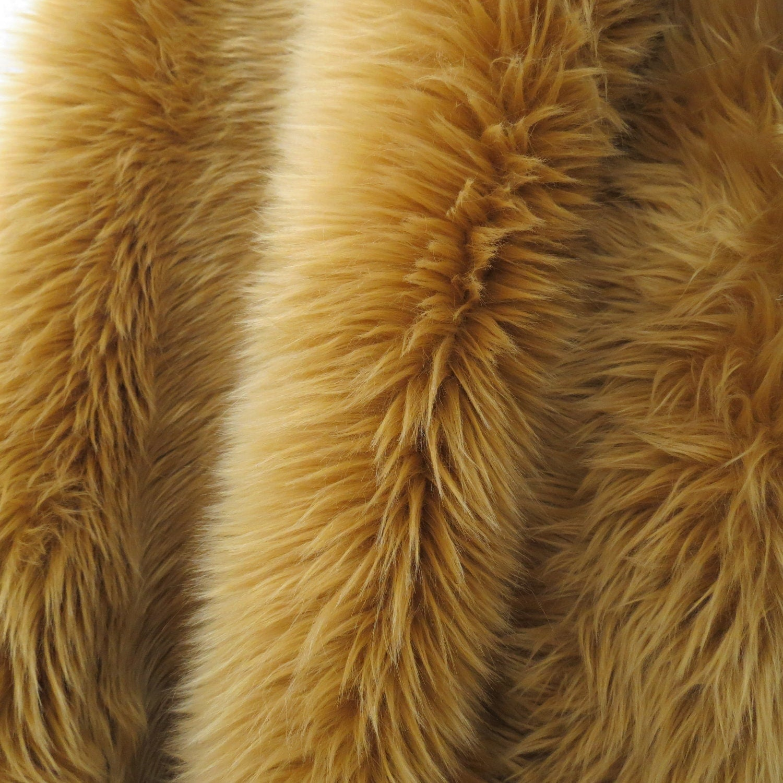 Shaggy Faux Fur Caramel Tan Fabric 1 Yard By Myshaggysheep