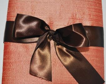 Peach Silk Boxed Invitation