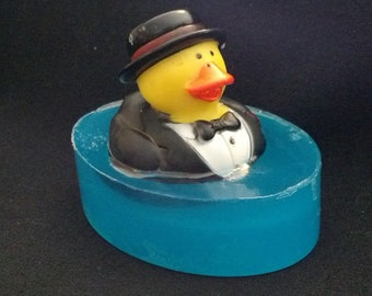 Groom Rubber Ducky embedded toy soap by Lavish Handcrafted