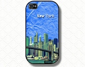 New York iPhone Case iphone 5, 4s case iphone 4 case - NY Art phone case.