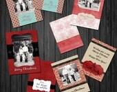 4 - 5x7 Christmas Card Template Set -  .PSD files - Card Templates for Christmas - Classy Christmas- cct BTS