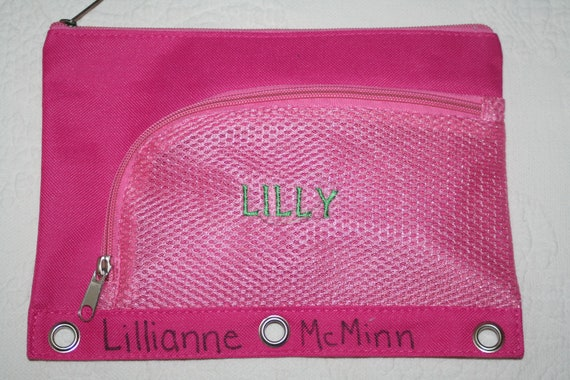 Pencil Bag Personalized with first name, initial or monogram