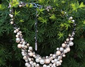 Brass Whimsical Pearl Necklace