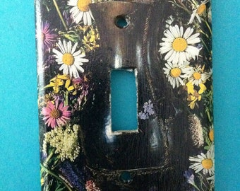 Wild flowers single toggle light switch cover