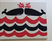 Lilly Pulitzer Whale's Tails Canvas