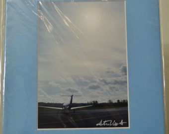 SALE - 5x7 Metallic print, prematted photograph - photograph - On the Tarmac - Troutdale Airport