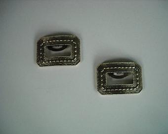 vintage goldtone brass shoe clips