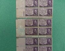Joseph Pulitzer Stamps, SC 946, ,Plate block of 4, 3 sets