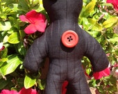"Art Doll Handmade ""Black Magic"" Voodoo Doll/ Pin cushion"