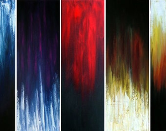 ORIGINAL HUGE  Textured Palette Knife  5  Contemporary  Abstract Paintings  Modern  ART  Inspiration by Tanja Bell