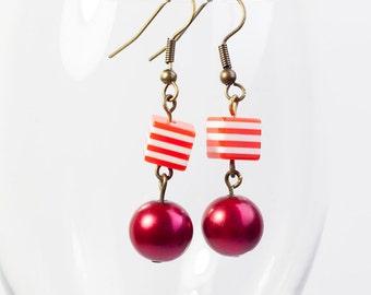 Modern Scarlet Renaissance - Fancy Scarlet Earrings