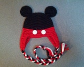 Baby Mickey Mouse Hat with Ear Flaps