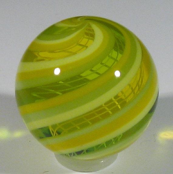 Banded Latticino core marble