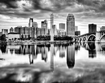 Dramatic Minneapolis - Minneapolis, MN - Minneapolis Skyline Photography