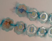 Cinderella Inspired Birthday Banner Cinderella Inspired theme Cinderella Inspired party Cinderella Blue