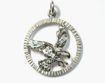 Eagle Pendant Sterling Silver Nature Inspired Wildlife Jewelry GregDeMarkJewelry