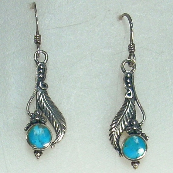 Reserved for Kristin - Vintage Silver Feather Earrings