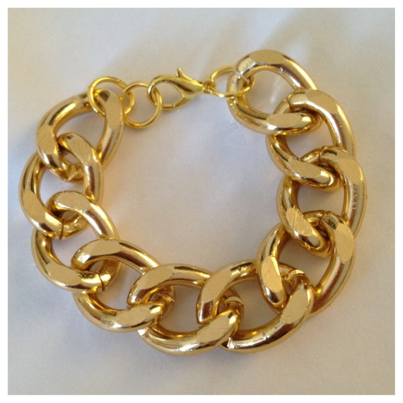items similar to gold chain bracelet on etsy