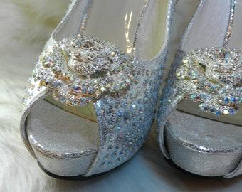 Cinderella Swarovski crystal shoes