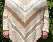 ALPACA PONCHO with SLEEVES