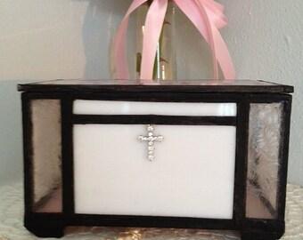Stain Glass Christening Memory Box