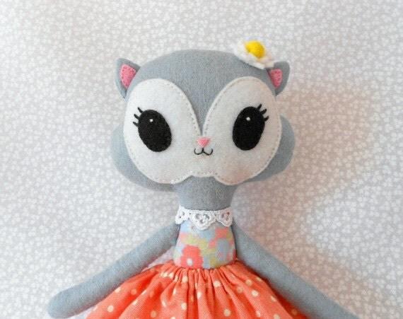 Daisy, a little cat softie doll.