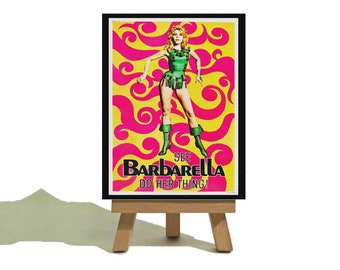 Barbarella - Vintage Style Miniature Canvas and Easel Set - The Perfect Gift