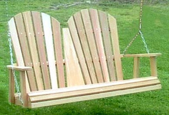 Amish Crafted 4 Fanback Cedar Porch Swing