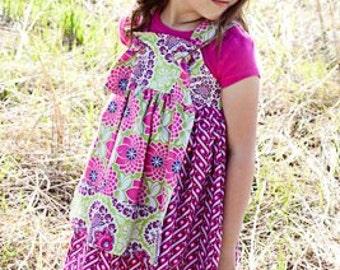 Custom Knot Dress- Knot Dress- Matilda Jane- Girls Knot Dress- Boutique Girls Apron Knot Dress- Size 6, 7/8, 9/10, 11/12- the dottedduck