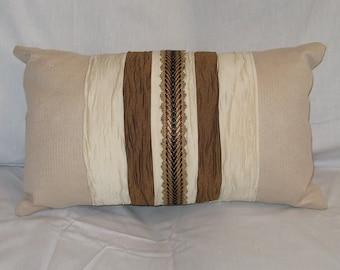 Beautiful Neutral Pillow  - 12 x 20