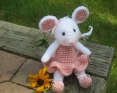 Ballerina Mouse Crochet Stuffed Mouse, Amigurumi Mouse, Ballerina Doll, Toy Mouse - CROriginals