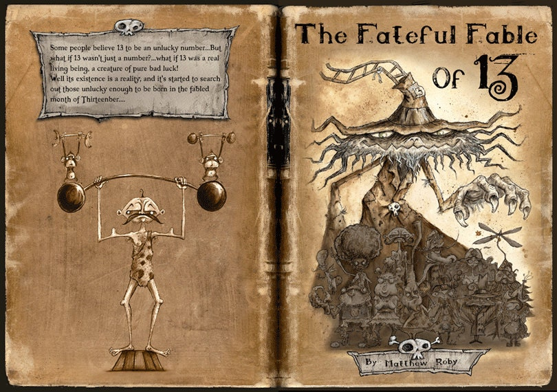 The Fateful Fable of 13 - Limited Edition Book steampunk buy now online